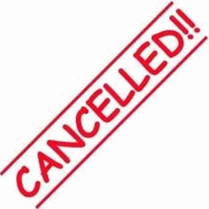 U15s York Game Cancelled