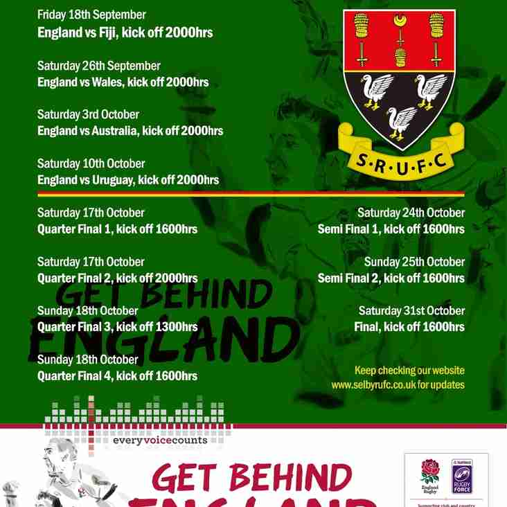Watch England at Selby RUFC