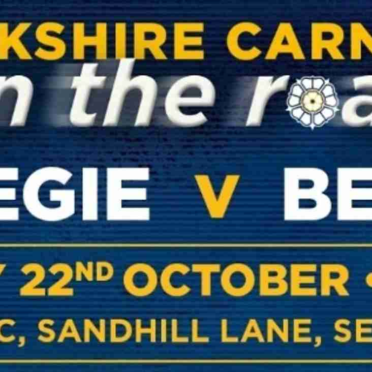 Yorkshire Carnegie v Bedford Blues - British & Irish Cup