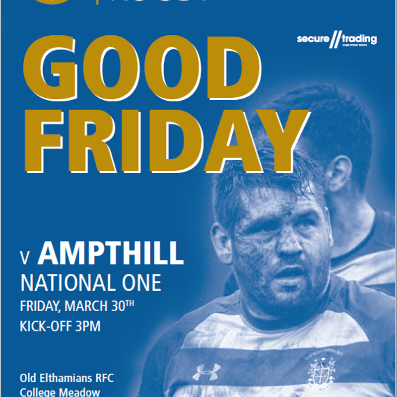 OEs v Ampthill rearranged for Good Friday