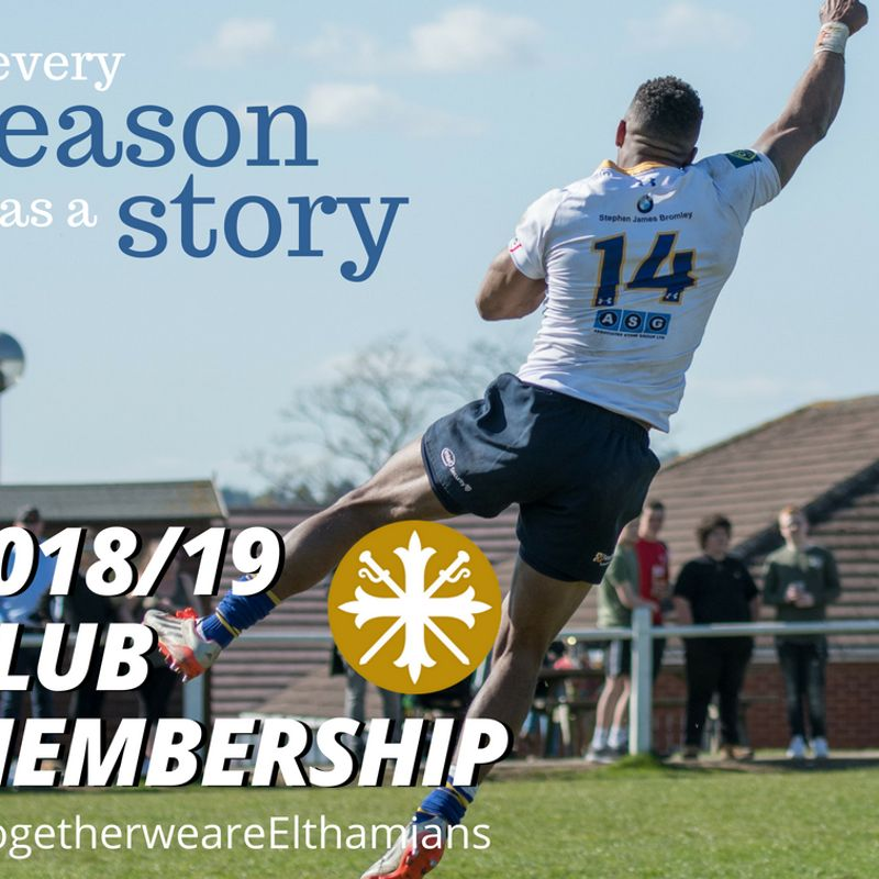 Club Membership for 2018/19 season