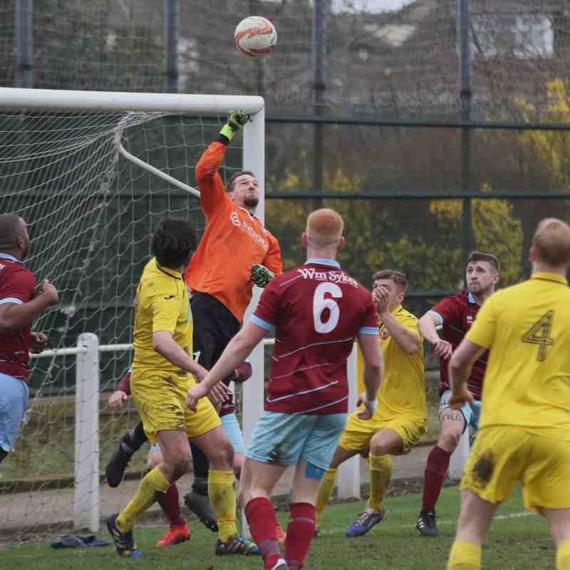 AFC Emley 2:0 Knaresborough Town - NCEL Division One - 18-03-2017 - Attd 197