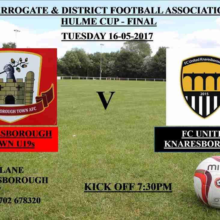 Knaresborough Town U19s V FC United Knaresborough