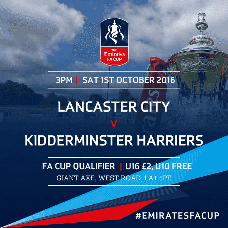 FA Cup: Lancaster City to host Kidderminster Harriers