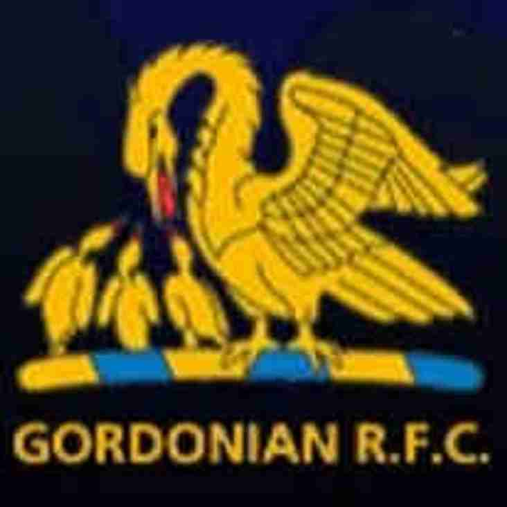 Sat 24th - Harris are away to Gordonians in Aberdeen - KO 15:00