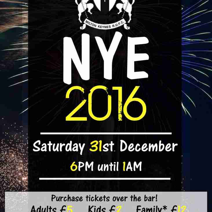 NEW YEARS EVE at MKRUFC