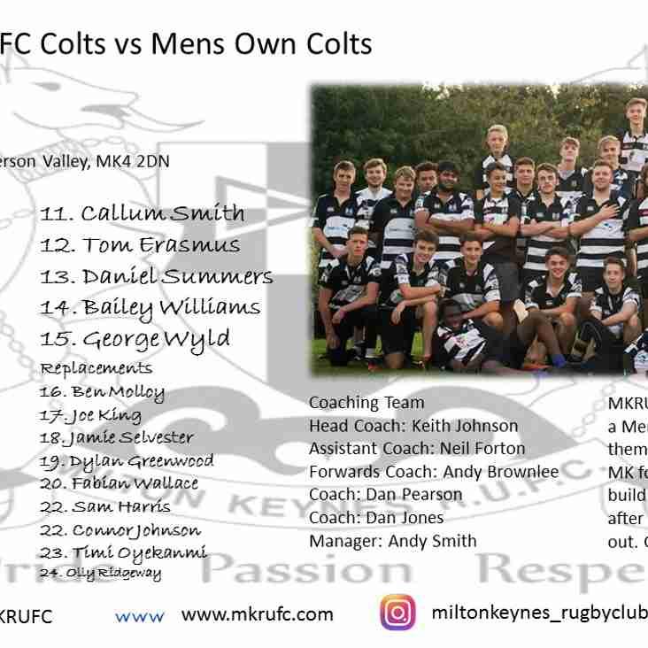 MK Colts Vs Mens Own