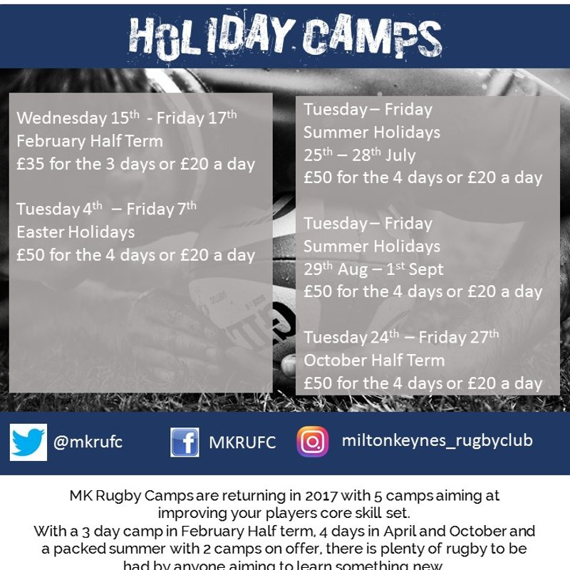 Holiday Camps at MKRUFC