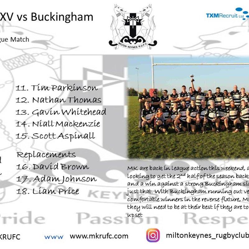 MK 1st XV vs Buckingham