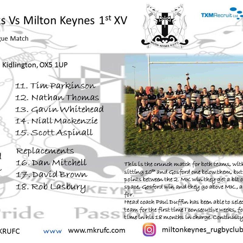MK 1st Team vs Gosford