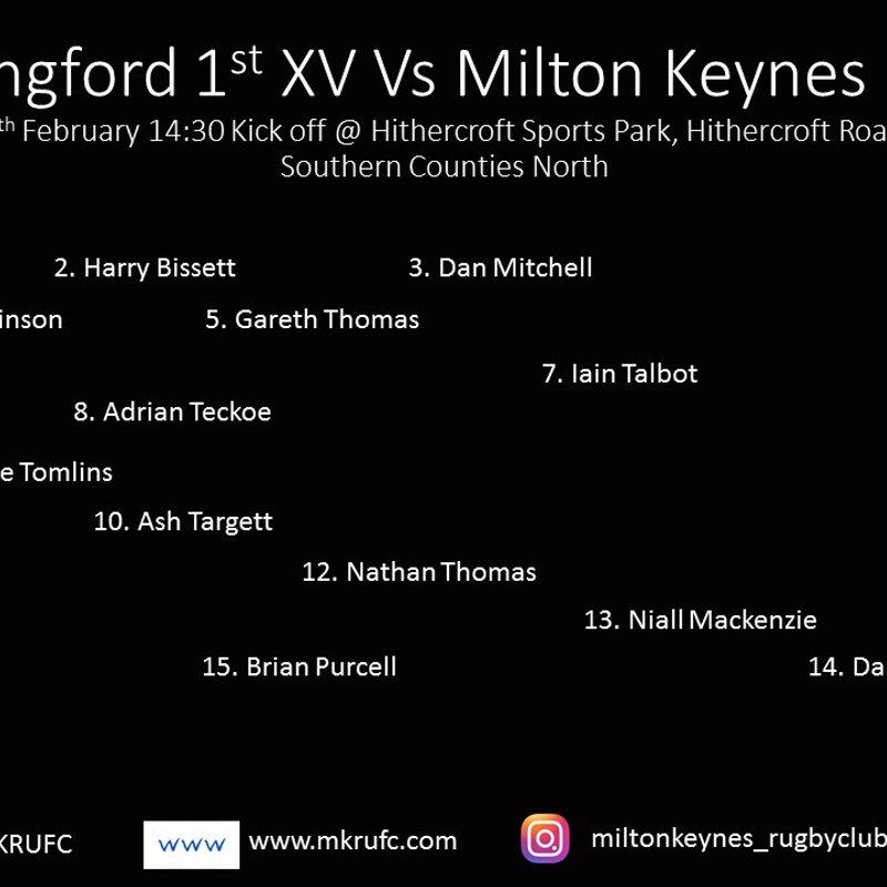 1st Team vs Wallingford