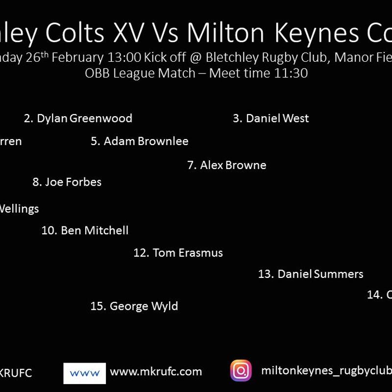 Bletchley Colts vs MK Colts