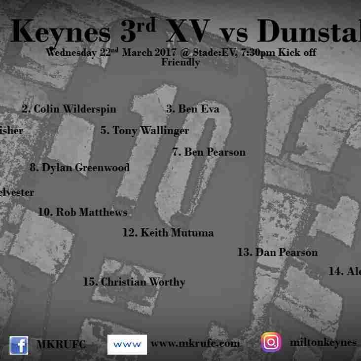 MK 3s XV vs Dunstable XV