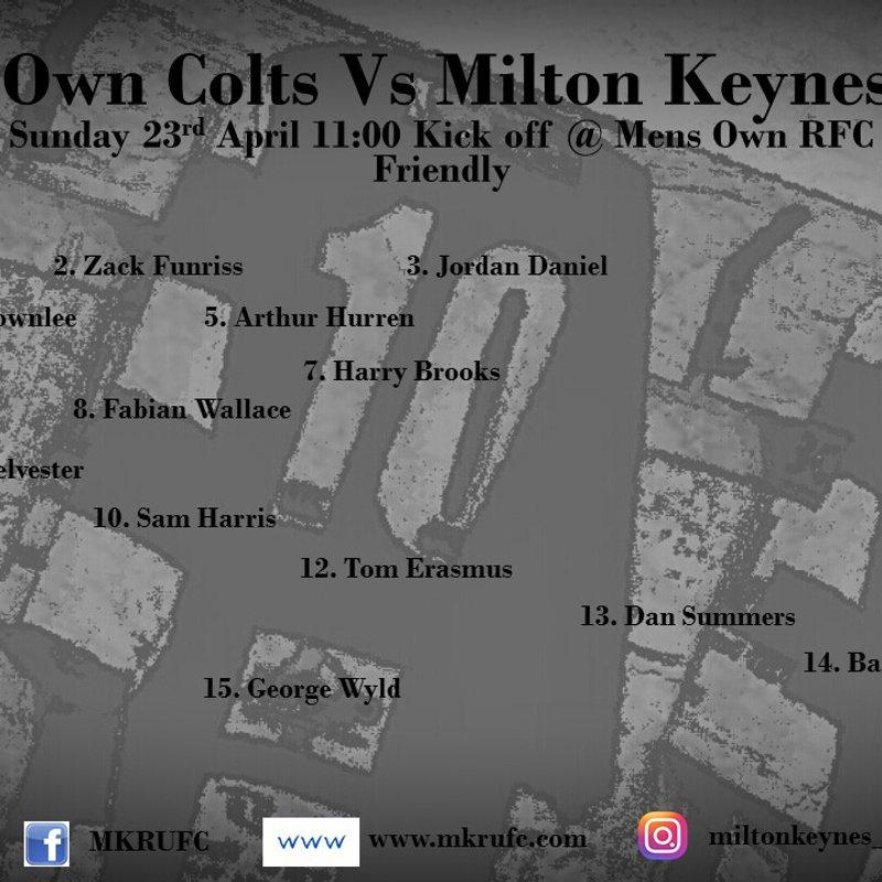 Mens Own Colts vs MK Colts