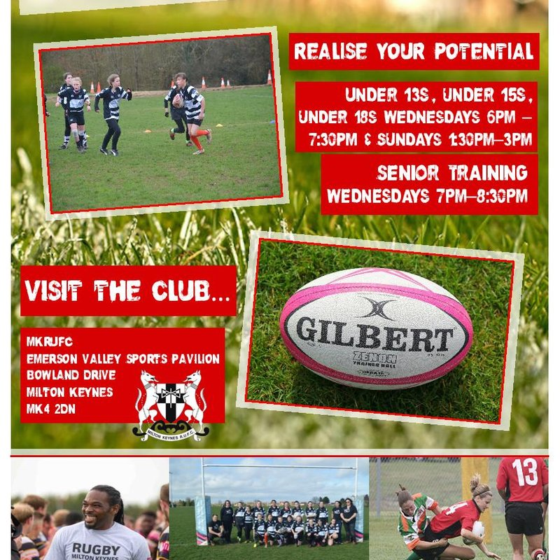 Ladies and Girls Rugby on the Rise @ MKRUFC