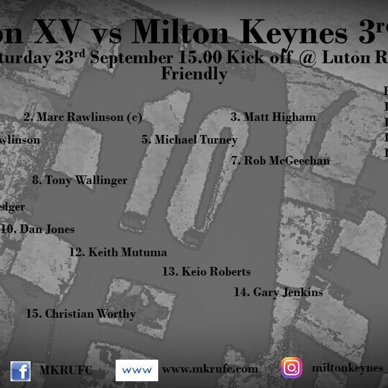 Luton 3s vs MKRUFC 3s