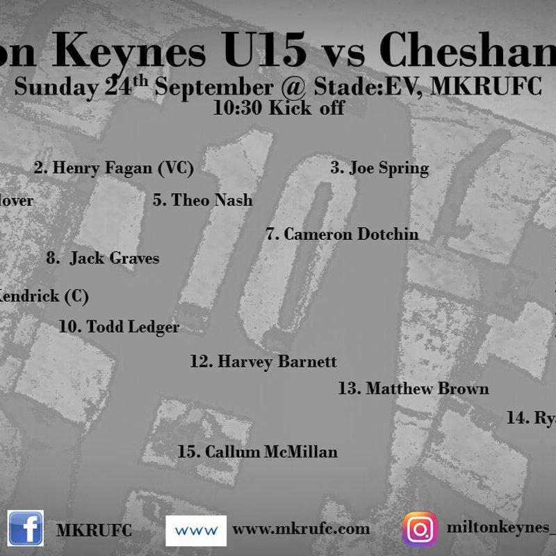 MK U15s vs Chesham U15