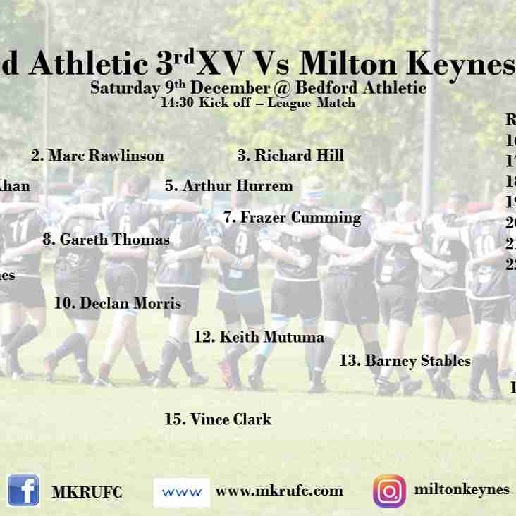 Bedford Athletic 3s vs MK 2s