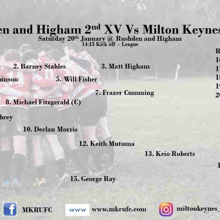 Rushden and Higham 2s vs MK 2s