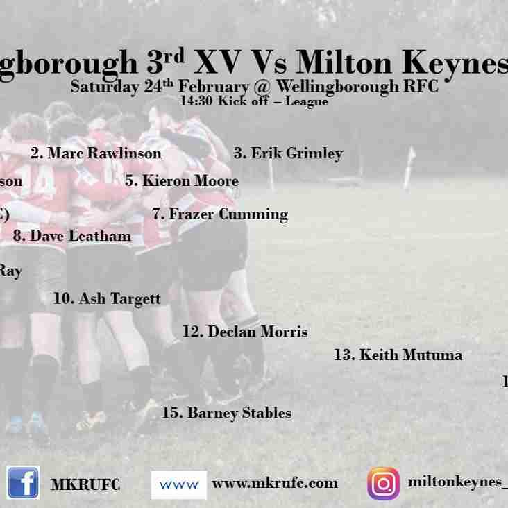 Wellingborough 3s vs MK 2s
