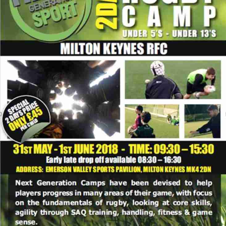 Next Generation Rugby Camp