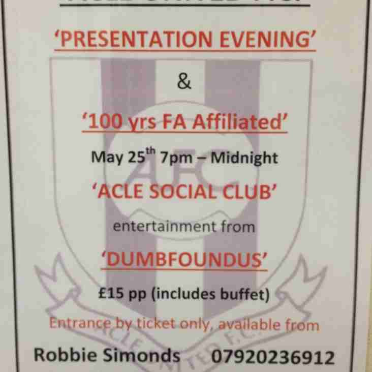 Acle United FC Presentation Evening