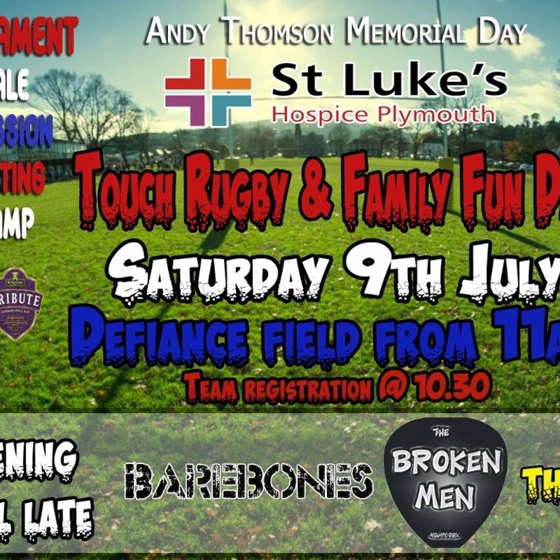 Andy T Community Day - Saturday 9th July 2016