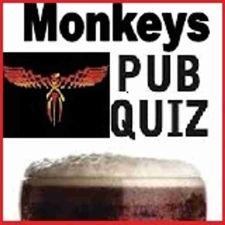 MONKEY'S QUIZ NIGHT: SATURDAY 20TH FEBRUARY 2016