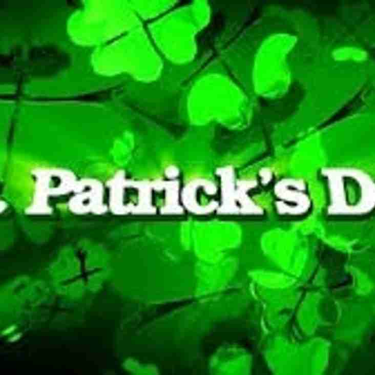ST PATRICKS PARTY: SATURDAY 12TH MARCH 2016