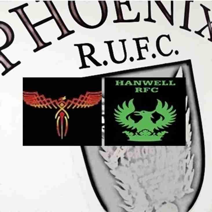 Phoenix RFC Vs Hanwell RFC: Saturday 3rd September 2016 FRIENDLY CLUB GAME