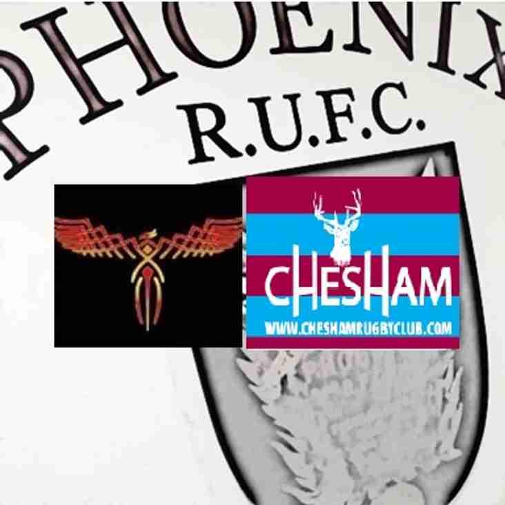 PHOENIX I vs CHESHAM I  HOME GAME