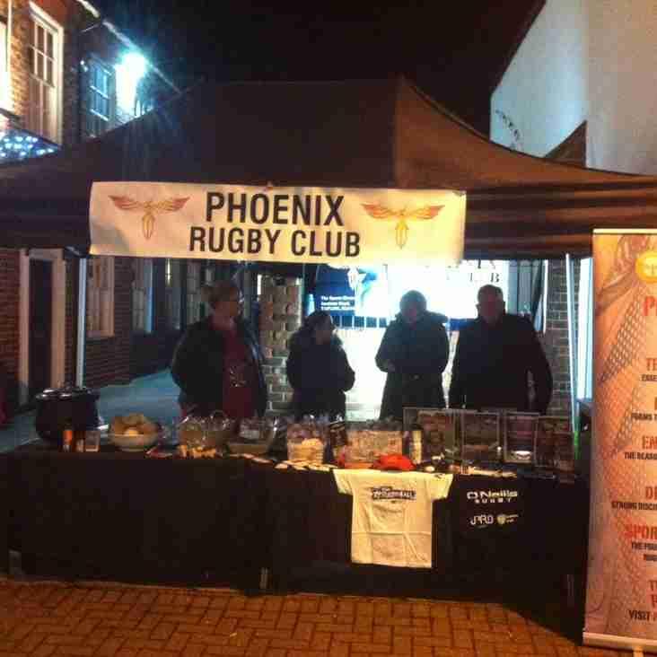Phoenix appearance Burnham Highstreet: Christmas Lights fayre