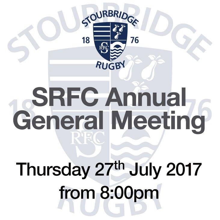 SRFC Annual General Meeting 2017<