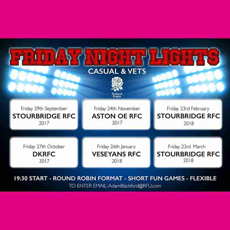 Friday Night Lights - Casuals & Vets - CANCELLED