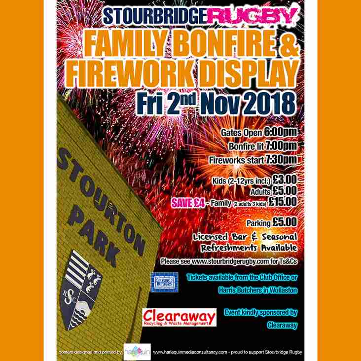 Family Bonfire & Fireworks Display