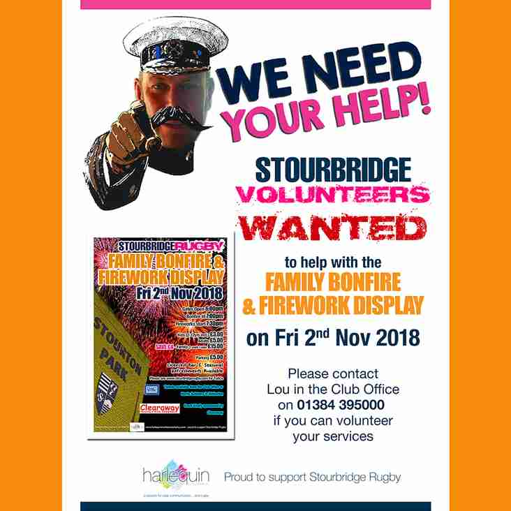 Club Volunteers Needed for Bonfire Night