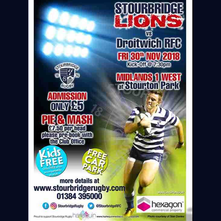 Stourbridge Lions vs Droitwich - FRIDAY NIGHT LIGHTS