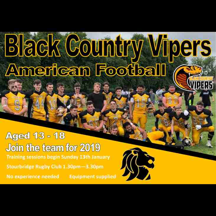Black Country Vipers 2019 Recruitment