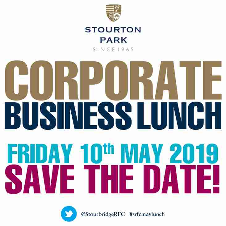 May Lunch 2019 - SAVE THE DATE!