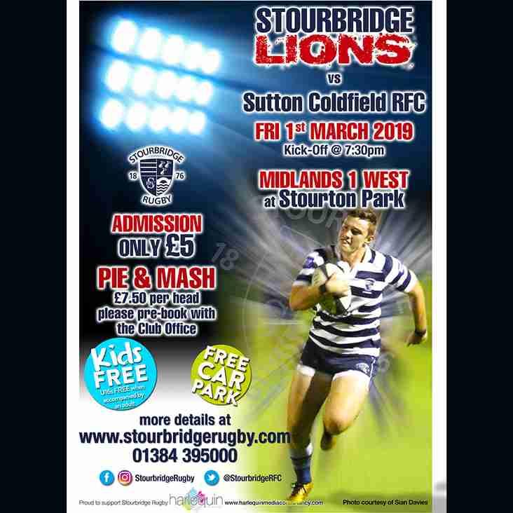 Friday Night Lights - Lions vs Sutton Coldfield