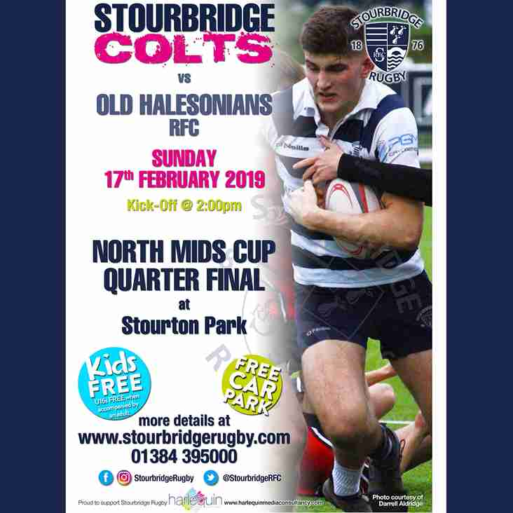 Colts in North Mids Cup Quarter Final