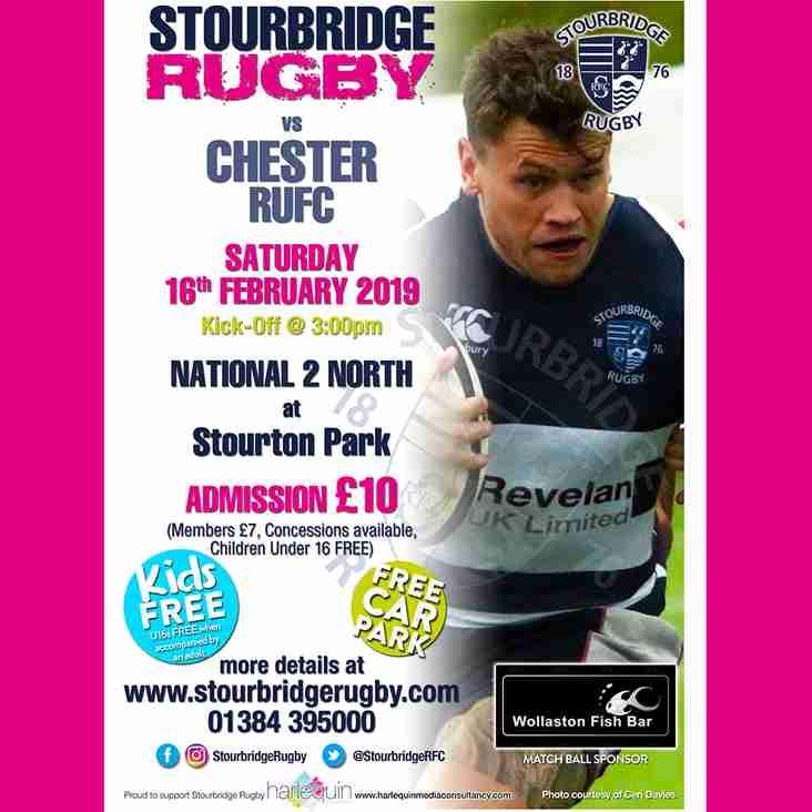 Stourbridge vs Chester RUFC