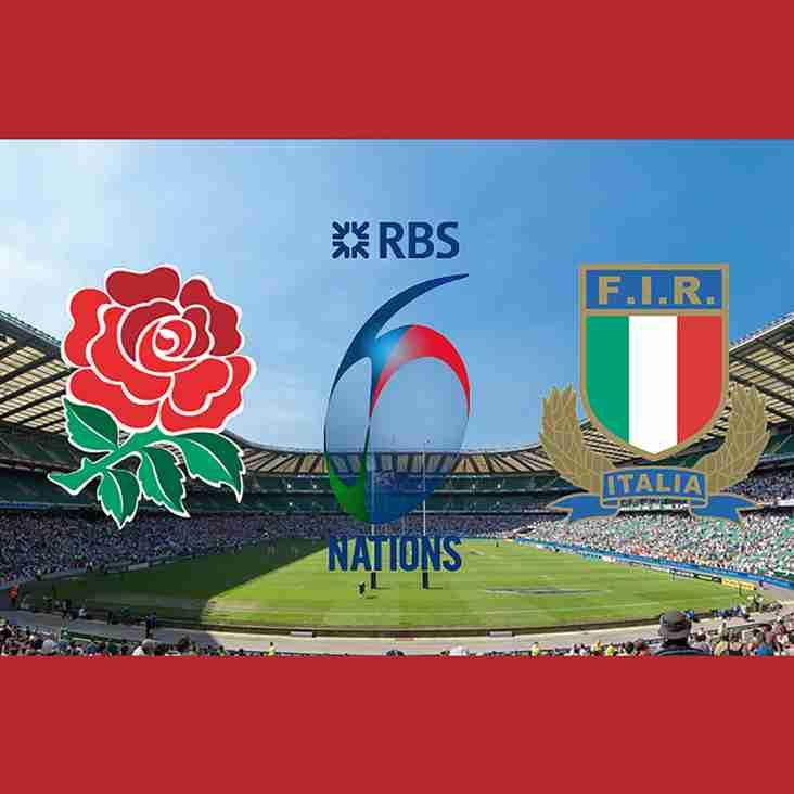 England vs Italy on the BIG Screens