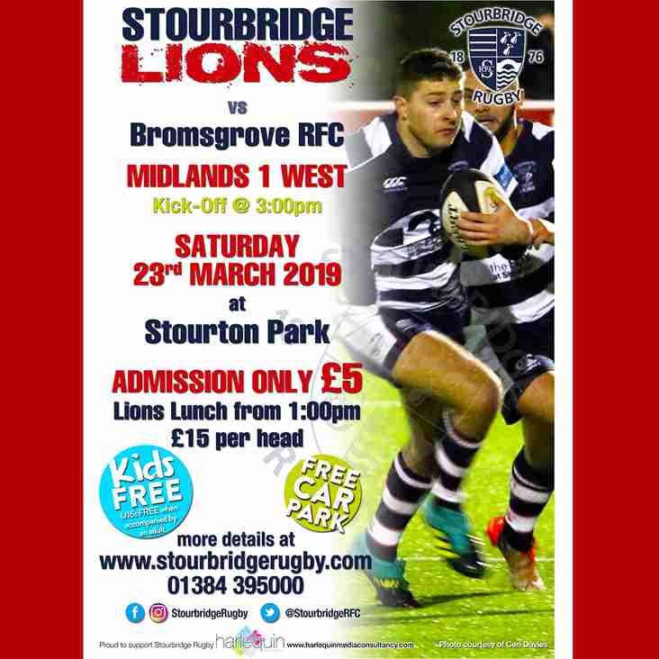Stourbridge Lions vs Bromsgrove
