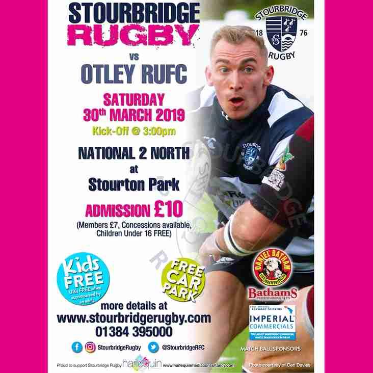 Stourbridge vs Otley RUFC