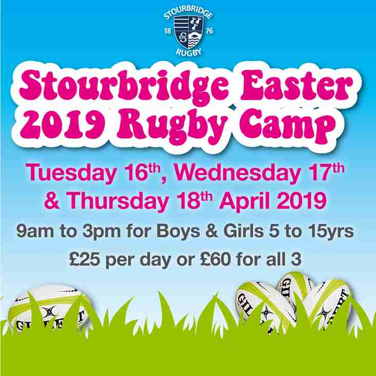 Stourbridge Easter 2019 Rugby Camp