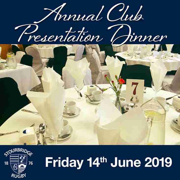 Annual Club Presentation Dinner