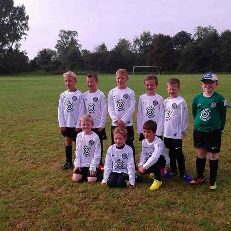 U8s looking great in their new kits, sponsored by Combat Academy Cambridge