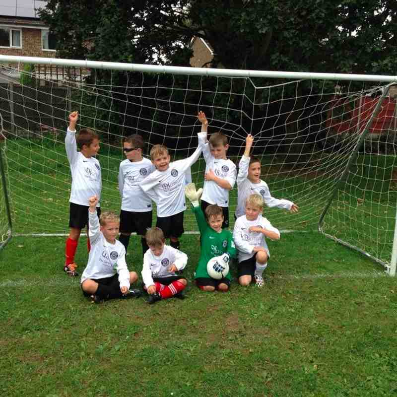 U7 First match in their brand new kits - Thanks to Q Hotels, The Cambridge Belfry
