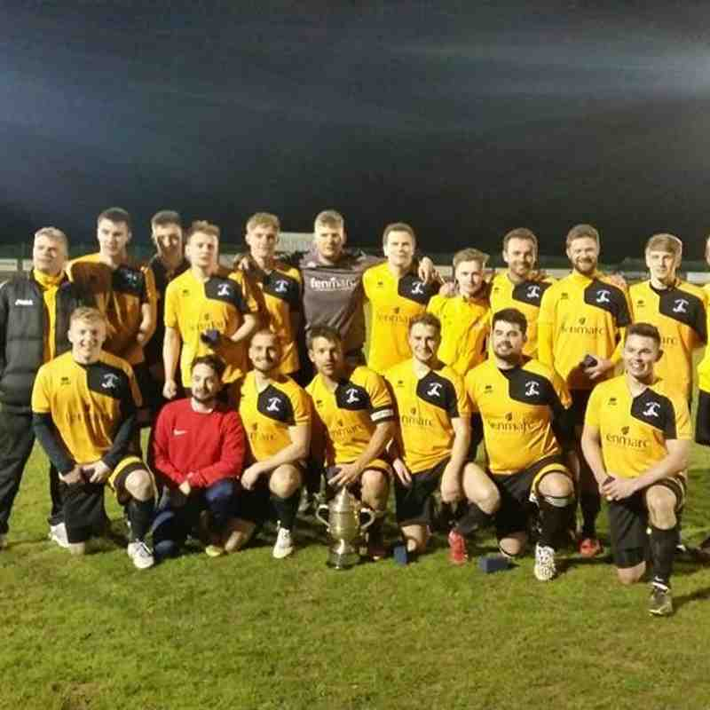 MARCH TOWN RESERVES WIN NORTH CAMBS CUP 6.4.16